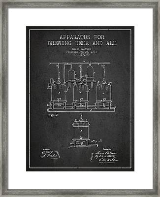 Brewing Beer And Ale Apparatus Patent Drawing From 1873 - Dark Framed Print
