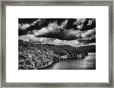 Brewing Storm Summersville Lake  Framed Print by Thomas R Fletcher