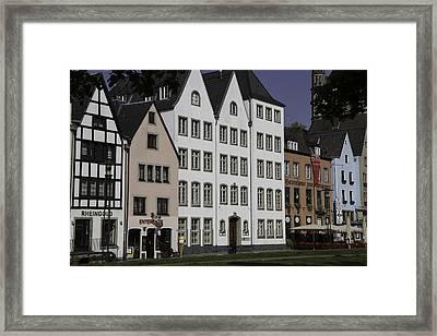 Brewpubs In Cologne Along The Rhine Framed Print by Teresa Mucha