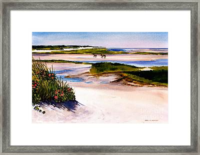 Framed Print featuring the painting Brewster Ebb Tide by Karol Wyckoff