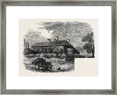Brewsters House At Scrooby Framed Print