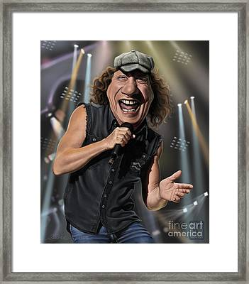 Brian Johnson Framed Print