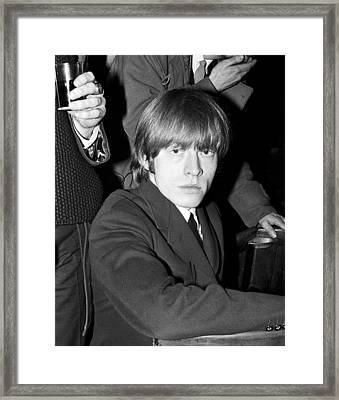 Brian Jones Backstage Adelphi Theatre Dublin 1965 Framed Print