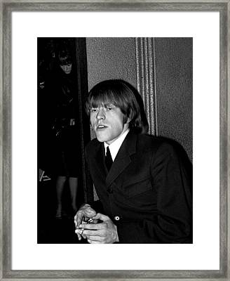 Brian Jones In Dublin 1965 Framed Print