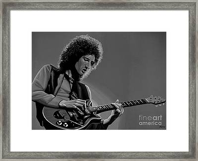 Brian May Of Queen Framed Print