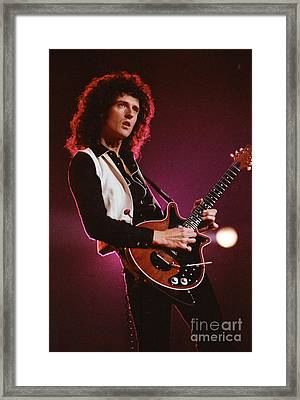Brian Of Queen Framed Print by Steven Macanka