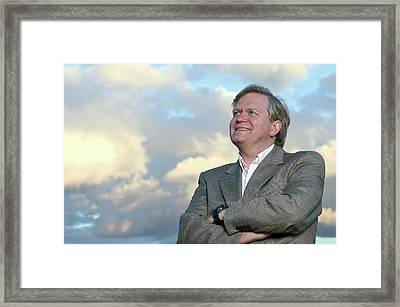 Brian Schmidt Framed Print by Emilio Segre Visual Archives/american Institute Of Physics