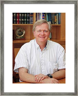 Brian Schmidt Framed Print by Tim Wetherell, Courtesy Emilio Segre Visual Archives/american Institute Of Physics