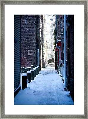 Brick Alley Framed Print by Allan Millora