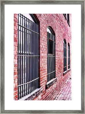 Brick Alley Framed Print by HD Connelly