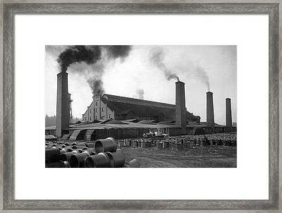 Brick And Lime Company Factory Framed Print
