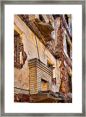 Framed Print featuring the photograph Brick And Mortar by Lawrence Burry