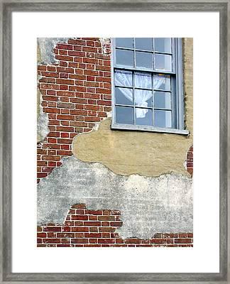 Brick And Mortar Framed Print by Sarah-jane Laubscher