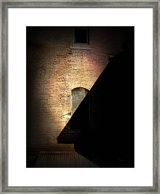 Brick And Shadow Framed Print by Cynthia Lassiter