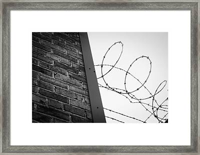 Brick And Wire Framed Print by John Rossman