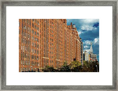 Brick Apartment Buildings New York City Framed Print