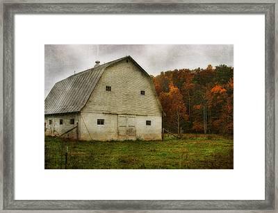 Framed Print featuring the photograph Brick Barn by Joan Bertucci