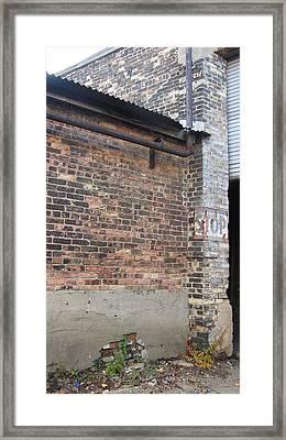 Brick Building Stop Framed Print by Anita Burgermeister