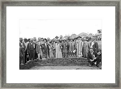Brick Ceremony At Ppie Framed Print