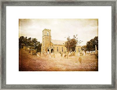 Brick Church In Montgomery Framed Print