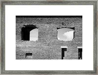 Brick Construction Of The Walls Of Fort Jefferson Dry Tortugas National Park Florida Keys Usa Framed Print by Joe Fox