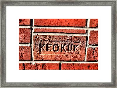 Brick Framed Print by Jame Hayes