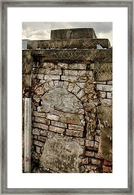 Brick Oven Grave Framed Print
