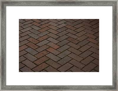 Brick Pattern Framed Print