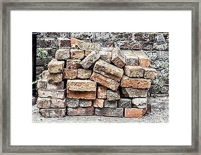 Brick Pile Framed Print by Georgia Fowler