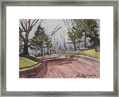 Brick Road Framed Print