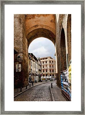 Brick Roads Framed Print