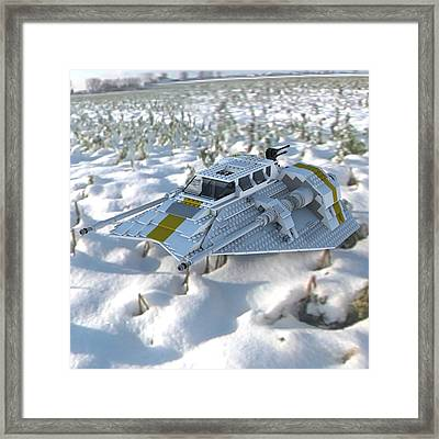 Brick Snowspeeder Ce Framed Print by John Hoagland