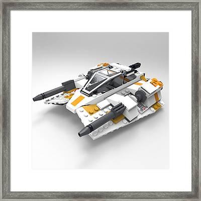 Brick Snowspeeder Framed Print by John Hoagland