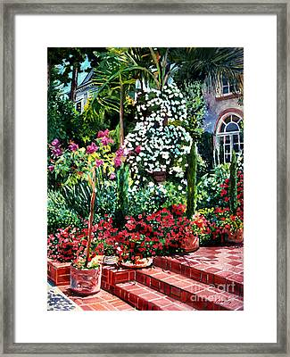 Brick Steps Framed Print