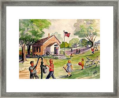 Brick Street Memories Framed Print