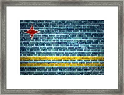 Brick Wall Aruba Framed Print