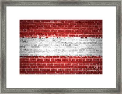 Brick Wall Austria Framed Print