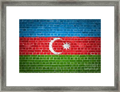 Brick Wall Azerbaijan Framed Print