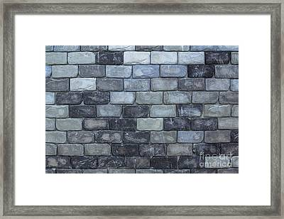 Framed Print featuring the photograph Brick Wall Background Or Texture  by Tosporn Preede