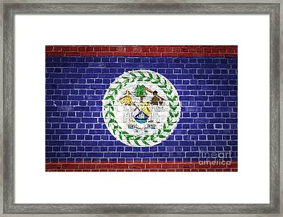 Brick Wall Belize Framed Print