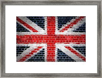 Brick Wall Britain Framed Print