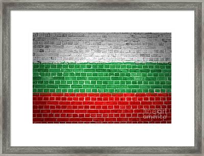 Brick Wall Bulgaria Framed Print by Antony McAulay