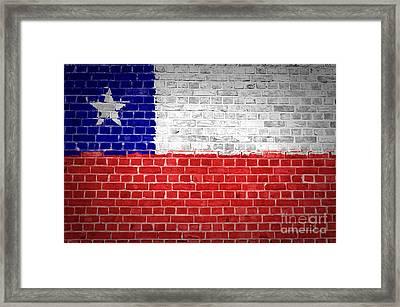 Brick Wall Chile Framed Print