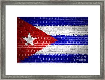 Brick Wall Cuba Framed Print