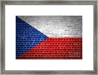 Brick Wall Czech Republic Framed Print by Antony McAulay