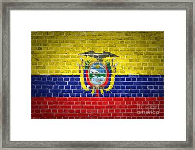 Brick Wall Ecuador Framed Print