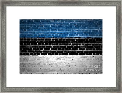 Brick Wall Estonia Framed Print by Antony McAulay