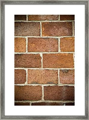Brick Wall Framed Print