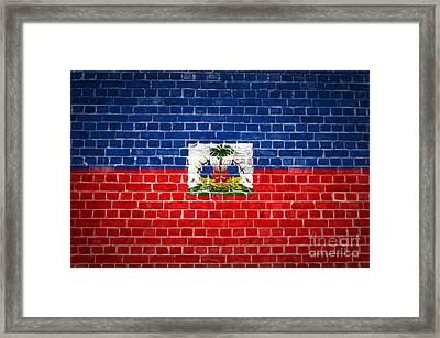 Brick Wall Haiti Framed Print