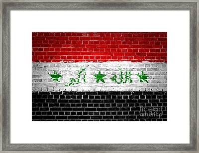 Brick Wall Iraq Framed Print by Antony McAulay